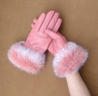 Woman Winter Genuine Soft Leather Grey Gloves gloves