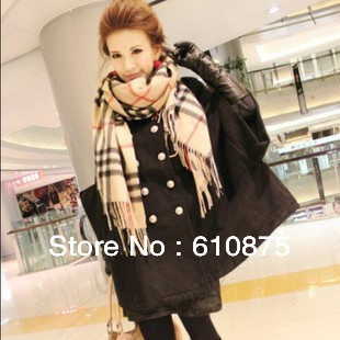 Free Shipping autumn and winter fashion plaid cashmere wool scarf vintage women's cape lovers design scarf ,R93