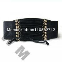 Fashion Women French Retro Velvet Tassels Elastic Belt Waistband 3 colors Free shipping free shipping