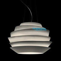 Free Shipping Modern European Simple Style Foscarini Le Soleil Wave White Rose Suspension  Pendant Lamp 3 light