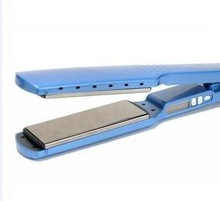 """strumenti per lo styling titanio nano 1 1/4 """" piastre per stirare i capelli che raddrizzano ferro piano di trasporto di goccia chapinha prancha ceramica(China (Mainland))"""