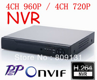 4CH NVR Network Video Recorder Support 4ch 960P camera or 4ch 720P IP cameras Support Onvif2.0 1ch VGA HDMI Output