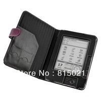 1pc free shipping Purple Faux leather cover case for Pocketbook Pro 602,603 eBook Reader(Book Style )