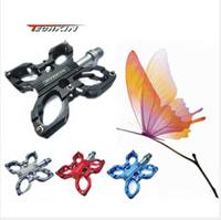 10313 new TECHKIN butterfly foot aluminium magnesium alloy 3 bearing foot pedal Alloy Mountain Bike Pedal MTB Freeride