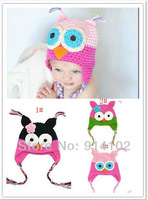 Toddler Owl EarFlap Crochet Hat Handmade Crochet OWL Beanie Knitted hat Very cute hat