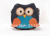 FLYING BIRDS 2012 fashion original design shoulder bag gustless color block big eyes owl messenger bag