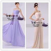 Sweetheart Chiffon Elegant Long Ribbon Women Long Evening Dress Korea 2014 Party Evening Dresses