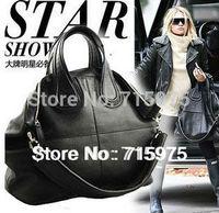 New 2014 Euramerican famous stars same model large-capacity women handbag genuine leather shopping bag tote bag Free Shipping
