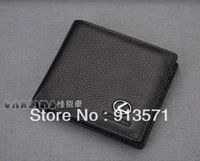 Free shipping leather wallet with car logo like Honda, Buick, Toyota, Hyuandai,  BMW,etc. free shipping