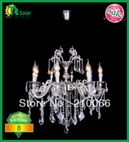 Freeshipping NEW Modern Crystal chandelier with 8 Lights crystal pendants for hotel bedroom retail or wholesale