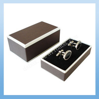 Brown Paper Cufflink Boxes CB-133 (90pcs/lot ) Top Quality Free Shipping