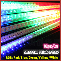10pcs/lot, SMD5050 Waterproof LED Meteor Rain Shower Light, Christmas Tree Decorative Light, RGB/ White/Red/Green/Blue/Yellow