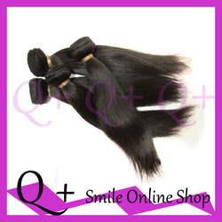 Free Shipping Soft Silk Straight Virgin Indian Human Remy Hair Weaving 4pcs/lot Natural Color Tangle Free No Shedding(China (Mainland))