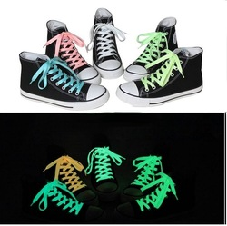 10pcs Shoelaces Glow in the Dark Kids Children Party Gift Neon Colors Night Teens Ladies Sport Tennies Shoes wholesale LOT(China (Mainland))