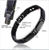Radiation-resistant anti-fatigue bracelet black titanium germanium magnetic accessories birthday gift accessories male