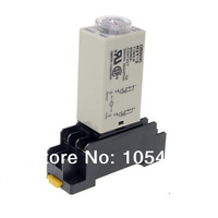 H3Y-2 Power On Time Delay Relay Solid-State Timer 1-30Min DPDT 8Pins&Socket 12VDC