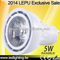 Free shipping CRI>85 2700K Sharp led gu10 5w dimmable spotlight