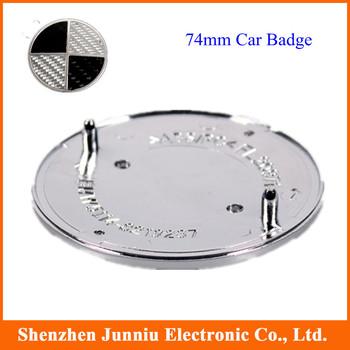 74mm Car Badge Car Logo Emblem Auto Emblem Rear Real Carbon Fiber High Quality Free Shipping