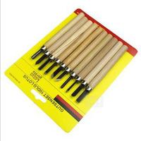 10 different knife type woodcut knife graver scuplture tools art set school supplies art supplies wholesale promotion