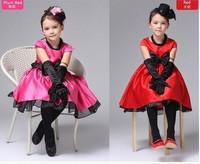 Free Shipping, red beautiful princess High-grade /princess dress/dinner party dress(4pcs/lot)glirs dress