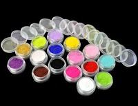 Hot Selling 16 Colors 3D Nail Art Flocking Powder Nails Velvet Art Set + Tweezer Free Shipping 8261