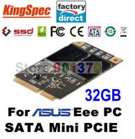 Brand Kingspec Mini PCIE SATA III SATA II SSD 32GB Hard Drive 4-Channels For Asus Eee PC S101,900,900A,901, Eee Slate EP121