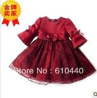 retail girls autumn  princess dress baby wedding party dress 3T 4T 5T 6T 7T 8T children spring autumn dress clothing
