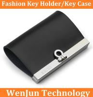 High-grade South Korean men business cow leather key wallet,  ladies fashion key holder, lady's leather key case