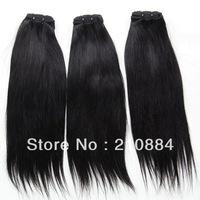 "Virgin Brazilian Straight Human Hair Extension 95-100g 12""-24"" 3Pcs/lot DHL Free Shipping"