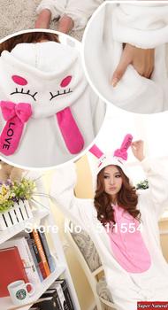Women's animal pajamas one piece long-sleeve love rabbit sleepwear underwear costume cosplay pajamas christmas gift