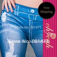 Free Shipping Women Fashion Clothing Ladies Sexy Legging Pants Designer Women Jeans Punk Hight Quality Leggings         T2138