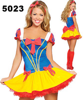 Holiday Sale Free Shipping! Sexy Gorgeous Snow White Cosplay Halloween Adult Costume Fancy Dress Wholesales One Size 5023