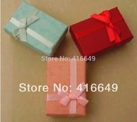 60pcs/lot 4x6x2.5cm Fashion Jewelry Box, Multi colors Rings Box,Earrings/Pendant Box ,Display Packaging Gift Box Free Shipping