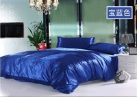 NEW ARRIVAL 6pcs patchwork silk satin bedding set king size available colors 4pc bed set bed cover bedclothes