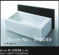 Skirt Side Bathtub K-3305A Little Spa Tup Soaking White Color Acrylic Small Corner Tubs Bathroom Accessories