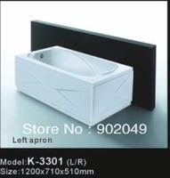Acryic Apron Skirt Bathtub K-3301 3mm Thickness White Color Soaking Indoor Tub Hand Control Spa Bathtub