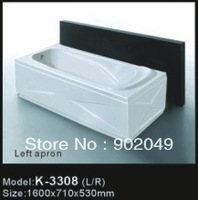 Acrylic Skirt Side Bathtub K-3308 White Rectangle China Manufacturer Whoesale Price Sanitary Ware