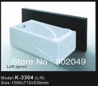 Apron Bathtub Acrylic Tub Cheap Bathtub White Rectangle K-3304 Sanitary Ware Bathroom Accessory