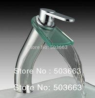 PRO Single Hole Basin Faucet Thermostatic Chrome Bathtub Waterfall Tap HK-012