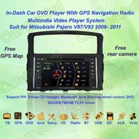 2006- 2011 Mitsubishi Pajero V97/V93 GPS Navigation DVD Player ,TV,Multimedia Video Player system+Free GPS map+Free shipping!!!