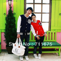 Free shipping 5pcs/lot  lovers baseball uniform baseball shirt stand collar sportswear 6246 wholesale