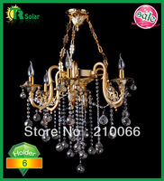 Freeshipping NEW Modern Modern Crystal pendant chandelier lamp with 6 lights Ceiling fitting lantern for candle light bulb