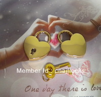 AJF golden heart love lock for valentines