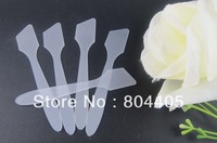 100% promotions! 8cm white cosmetic spatula, mask spatula, makeup cosmetic spatula   200pcs/lot