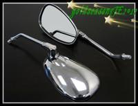 Freeshipping Chrome Oval Left Right Mirrors FOR Cruiser Touring Custom Bike Chopper