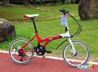 Free Shipping 20 Inch Disc Brakes Folding bicycle 21speed bike
