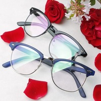 Hot selling clubmaster 3016 Vintage eyeglasses frame plain mirror glasses for male Women with Clear lenses