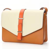 Miyi 2013 first layer of cowhide color block true cowhide leather women's handbag small shoulder envelope brand bag WBT0017