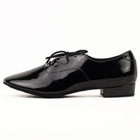 Male child black and white PU Latin dance shoes adult dance shoes jazz shoes practice shoes-211
