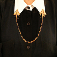Newest brooches Fashion Gold lady hands chain collar brooches Free shipping Min.order $10 mix order+gift  DT105